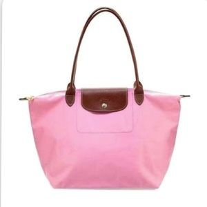 Longchamp Large Pink Nylon Tote